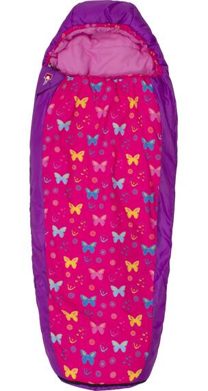 Grüezi-Bag Grow Butterfly Śpiwór Dzieci różowy/fioletowy